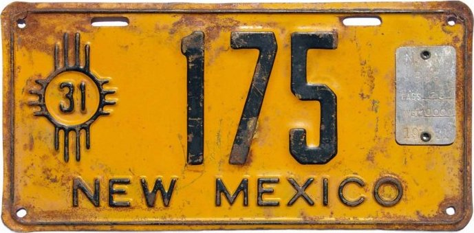 New Mexico Bus License Plates