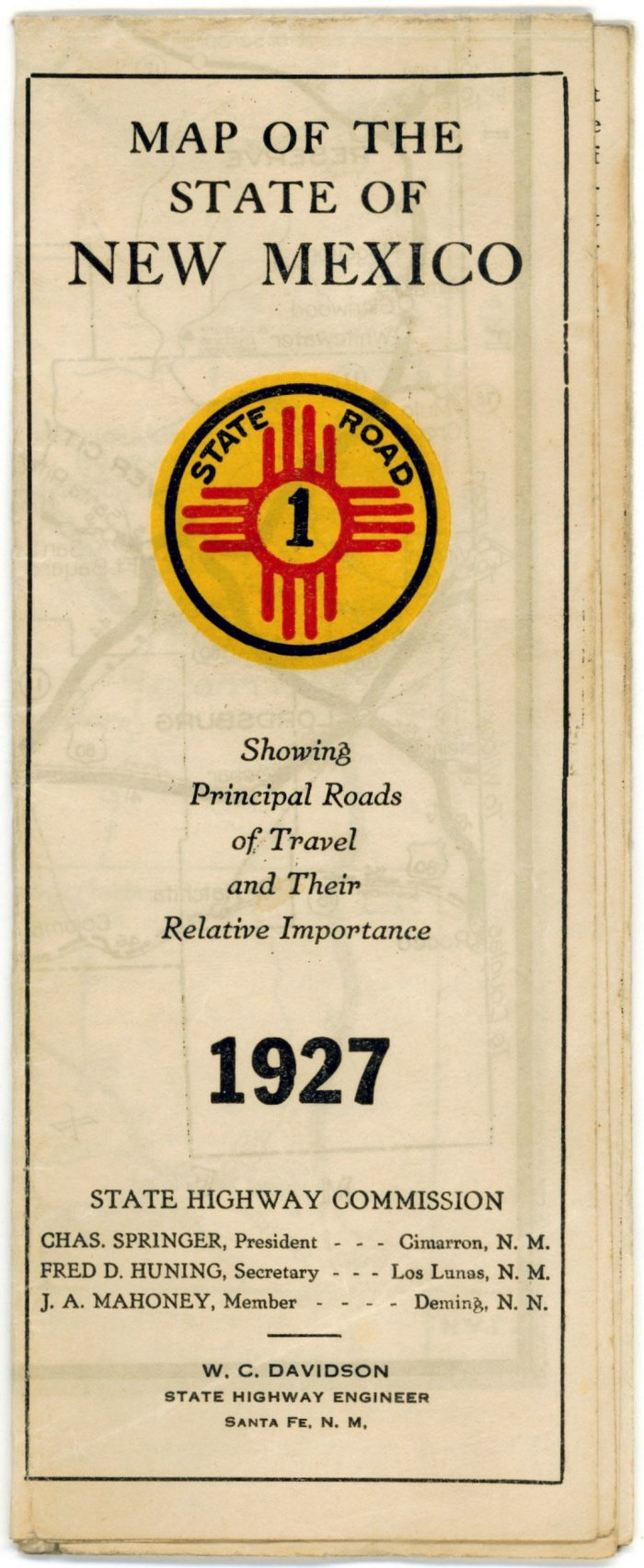 Early New Mexico State Highway Department Road Maps - New mexico state map