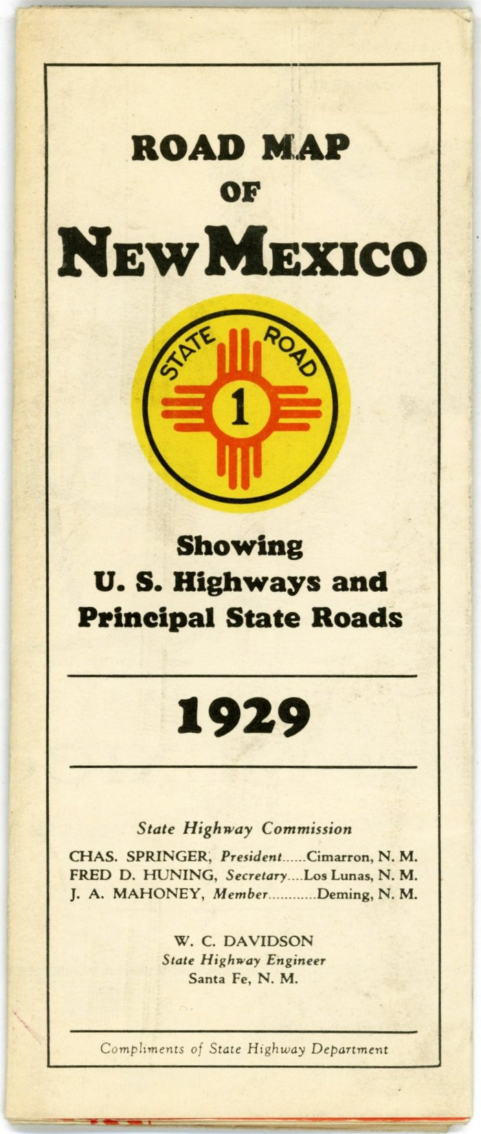 Early New Mexico State Highway Department Road Maps - Early us road maps