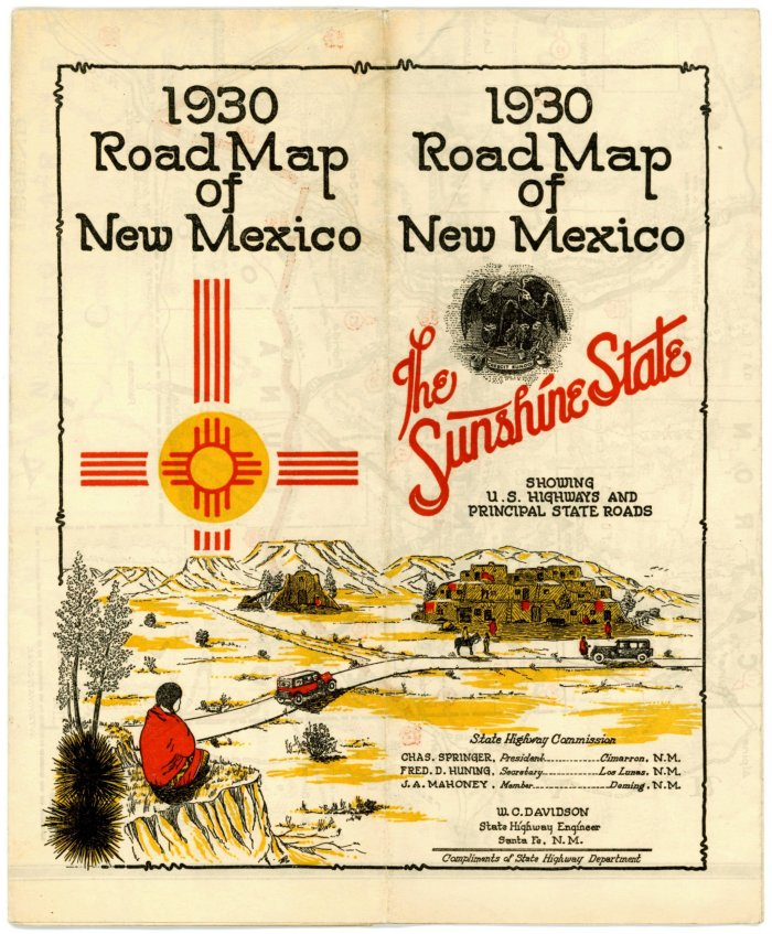 Early New Mexico State Highway Department Road Maps