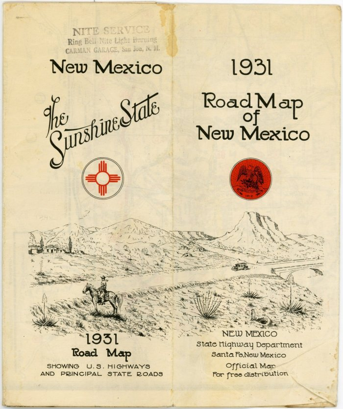 Early New Mexico State Highway Department Road Maps - Nm road map